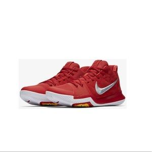 Kyrie 3 University Red Nike Sneakers